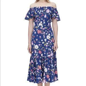 Rebecca Taylor off Shoulder Blue Maxi Dress Sz10